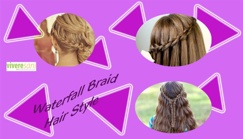 Waterfall Braid per i tuoi capelli